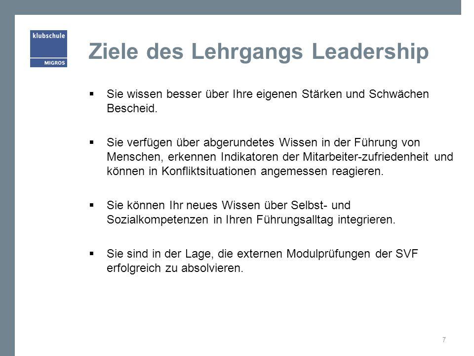 Ziele des Lehrgangs Leadership