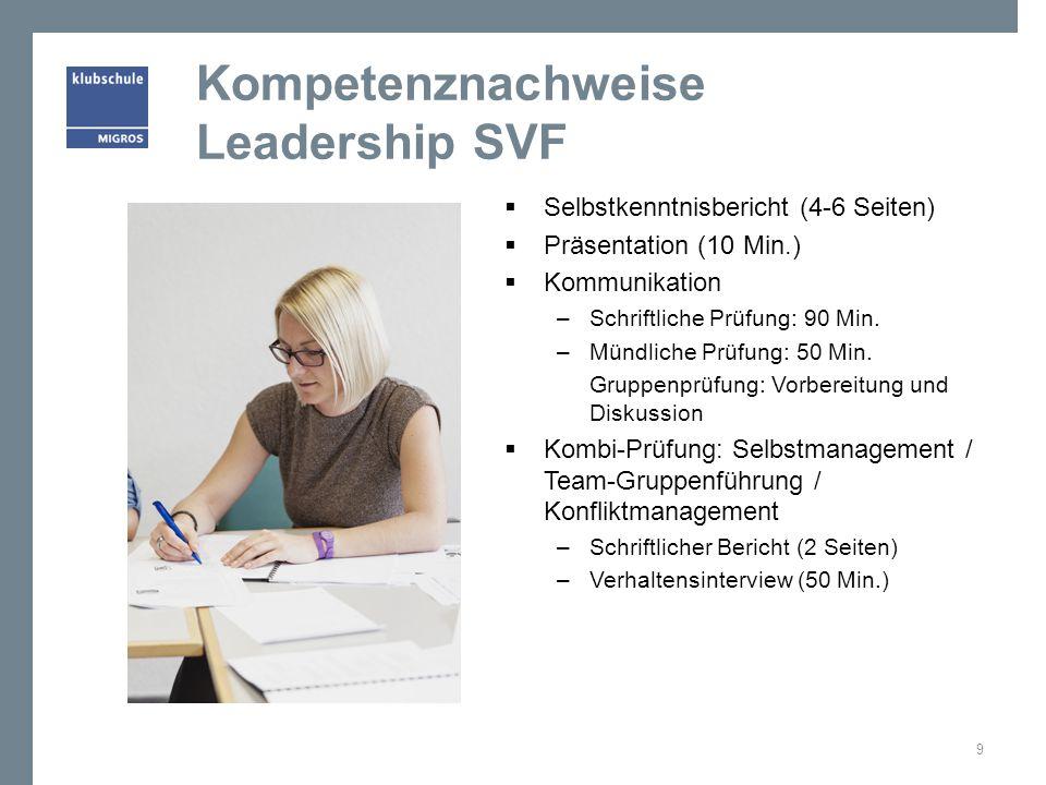 Kompetenznachweise Leadership SVF