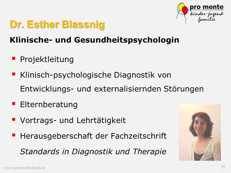Dr. Esther Blassnig Klinische- und Gesundheitspsychologin