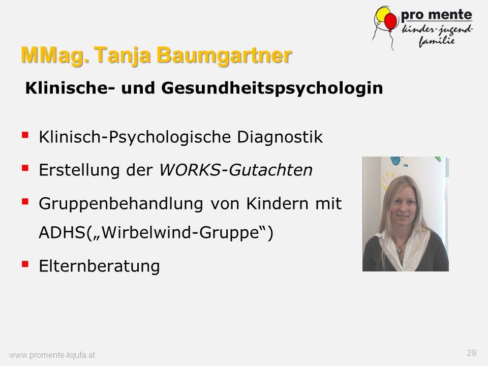 MMag. Tanja Baumgartner Klinische- und Gesundheitspsychologin