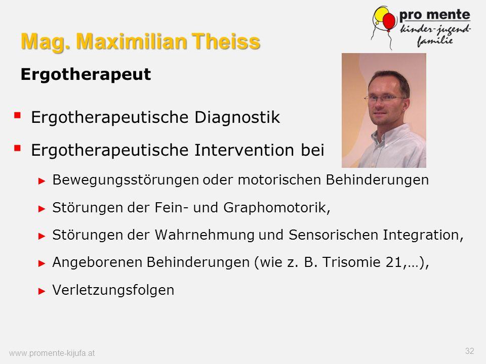 Mag. Maximilian Theiss Ergotherapeut