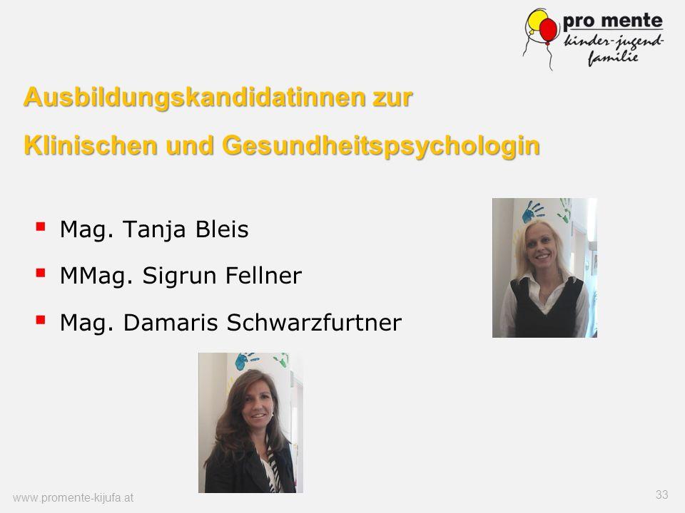 Ausbildungskandidatinnen zur Klinischen und Gesundheitspsychologin