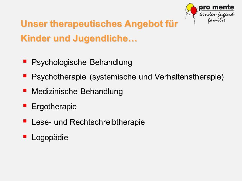 Unser therapeutisches Angebot für Kinder und Jugendliche…