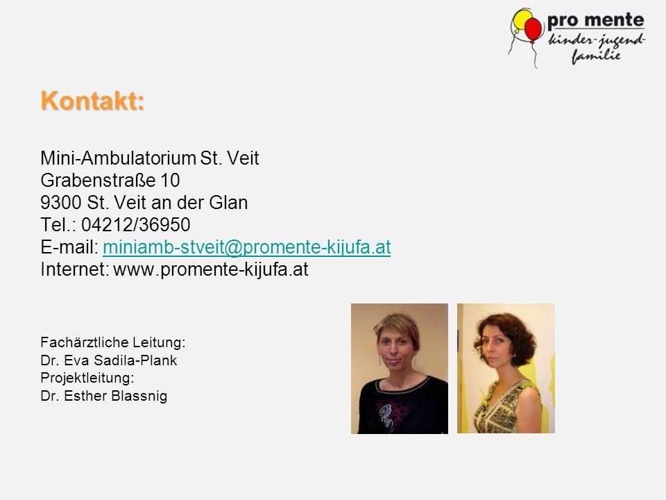 Kontakt: Mini-Ambulatorium St. Veit Grabenstraße 10