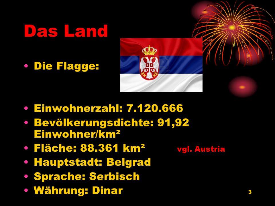 Das Land Die Flagge: Einwohnerzahl: 7.120.666