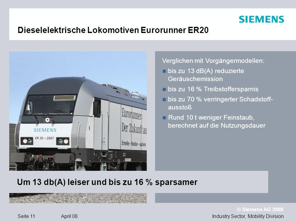 Dieselelektrische Lokomotiven Eurorunner ER20