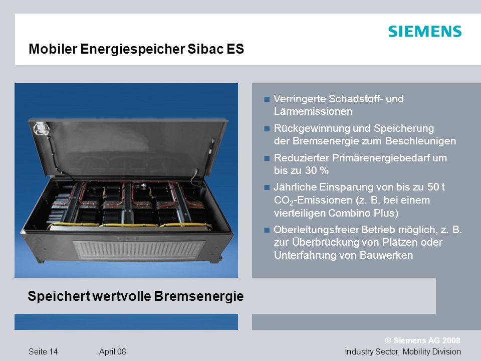 Mobiler Energiespeicher Sibac ES