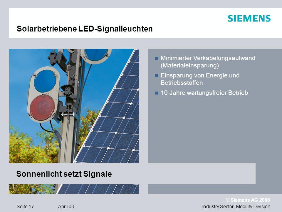 Solarbetriebene LED-Signalleuchten