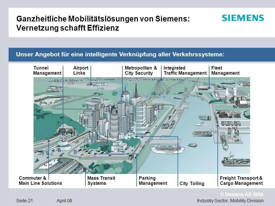 Ganzheitliche Mobilitätslösungen von Siemens: Vernetzung schafft Effizienz