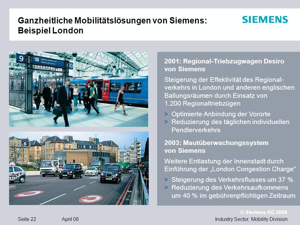 Ganzheitliche Mobilitätslösungen von Siemens: Beispiel London