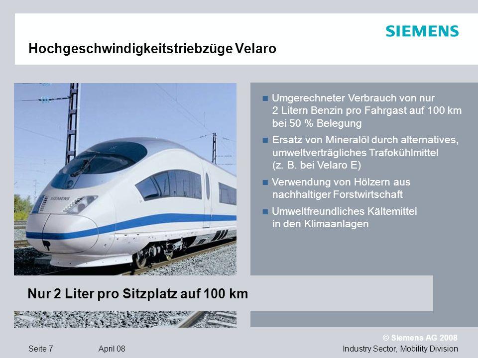 Hochgeschwindigkeitstriebzüge Velaro
