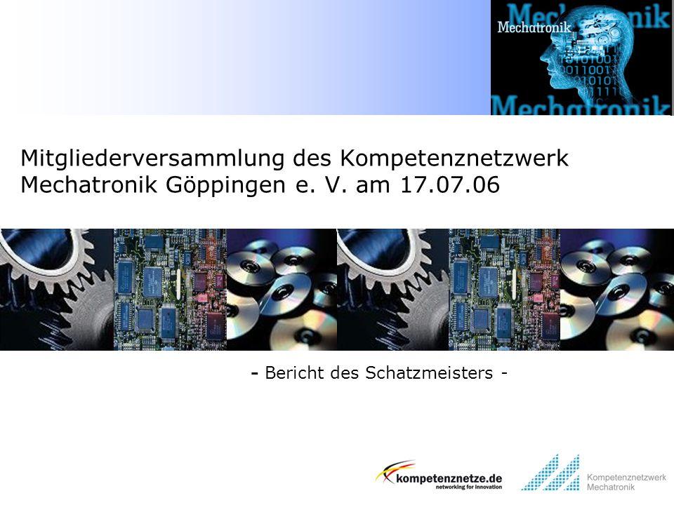 - Bericht des Schatzmeisters -