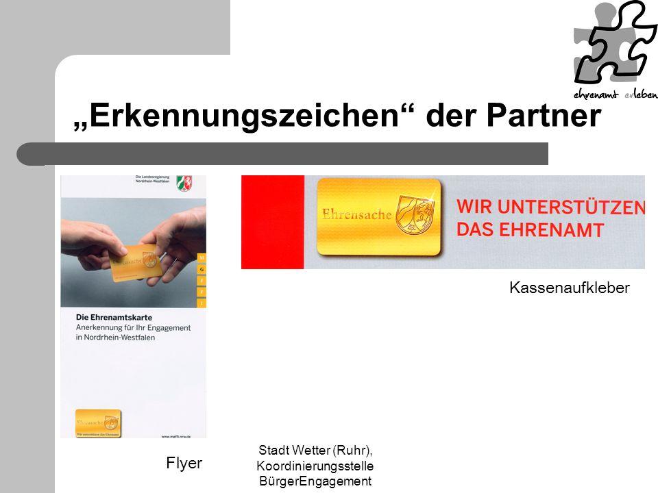 """""""Erkennungszeichen der Partner"""
