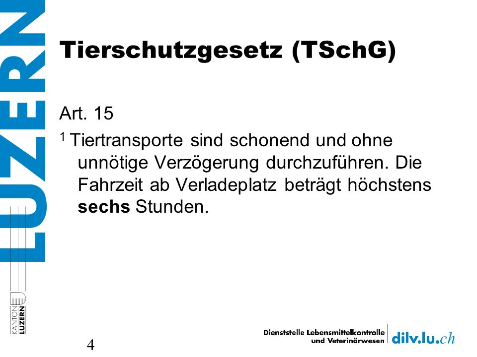 Tierschutzgesetz (TSchG)
