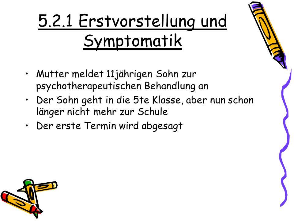 5.2.1 Erstvorstellung und Symptomatik