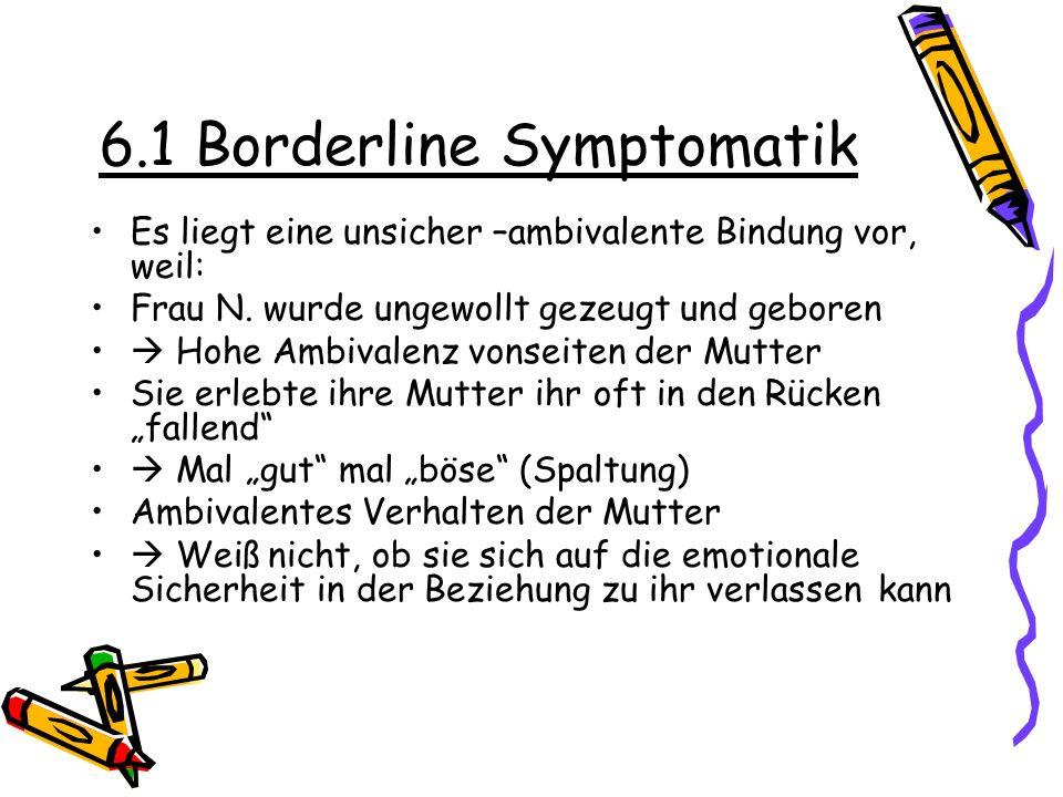 6.1 Borderline Symptomatik