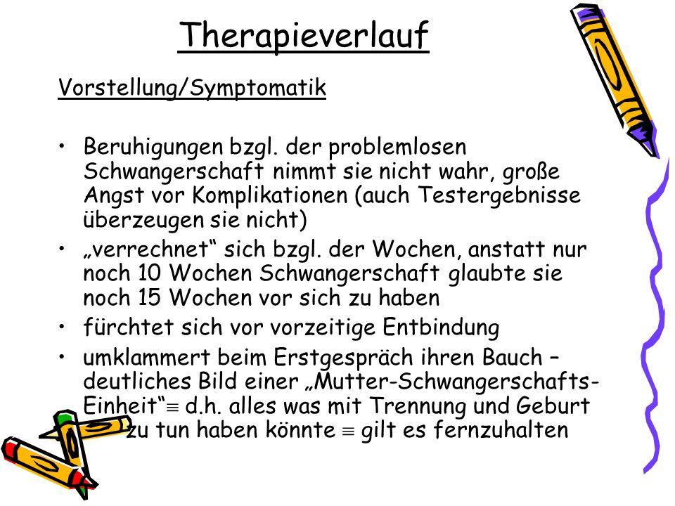 Therapieverlauf Vorstellung/Symptomatik