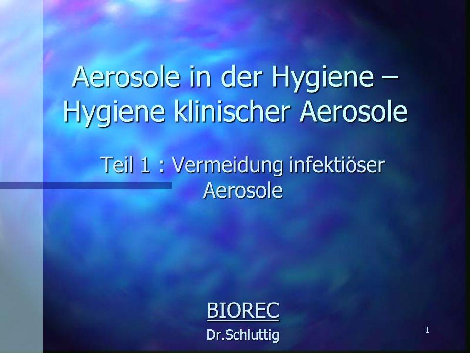 Aerosole in der Hygiene – Hygiene klinischer Aerosole