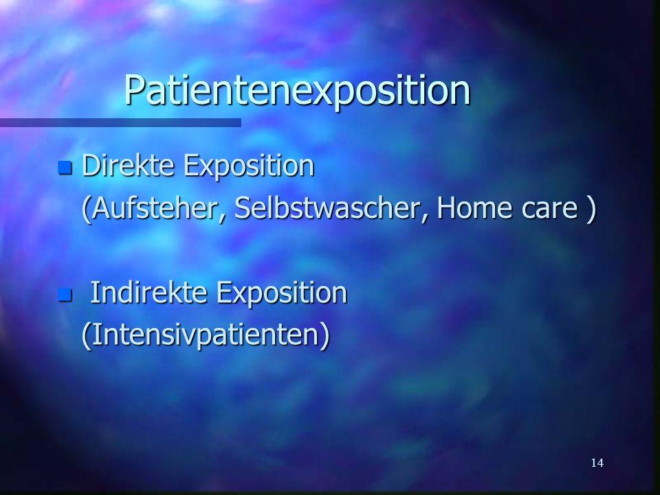 Patientenexposition Direkte Exposition