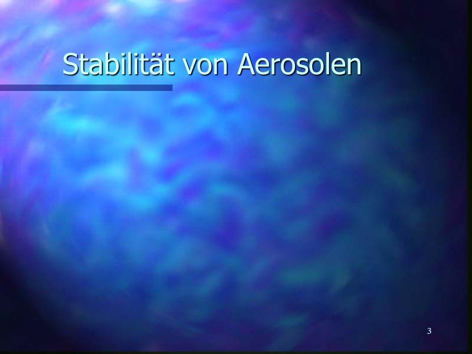 Stabilität von Aerosolen