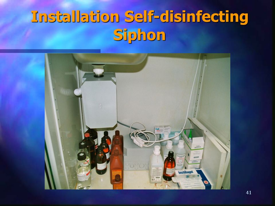 Installation Self-disinfecting Siphon