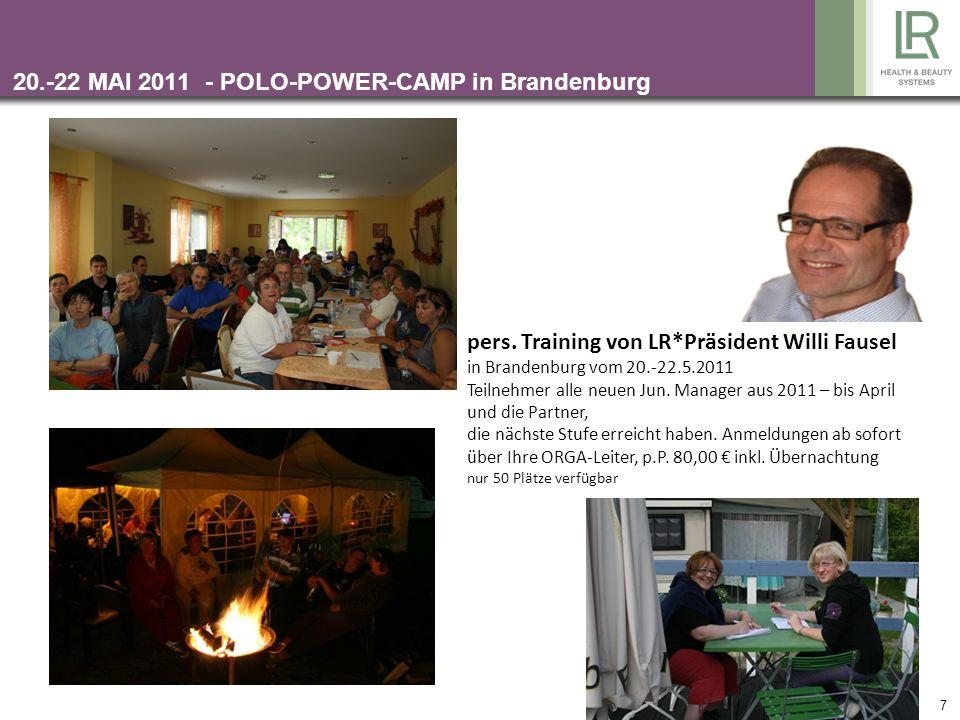 20.-22 MAI 2011 - POLO-POWER-CAMP in Brandenburg