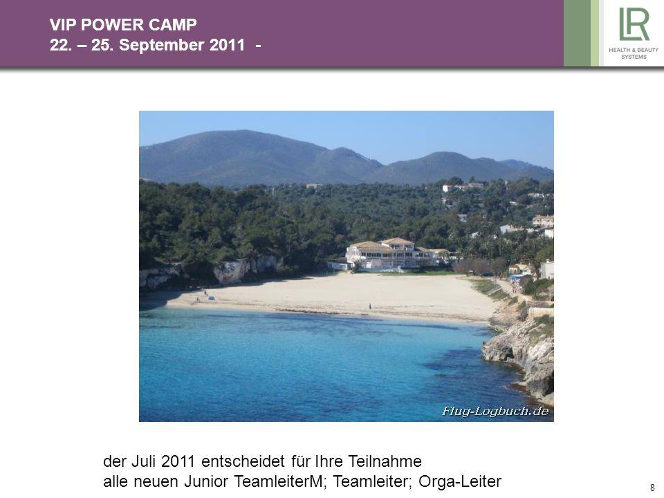 VIP POWER CAMP 22. – 25. September 2011 -