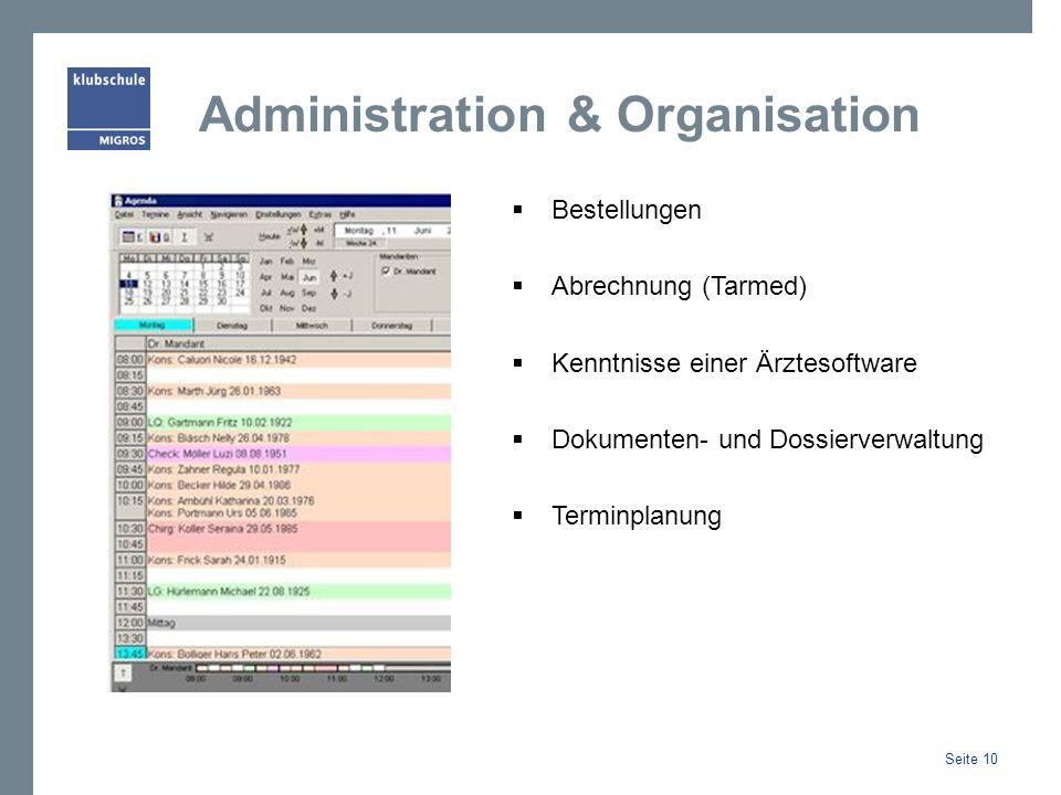 Administration & Organisation