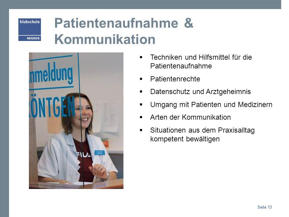 Patientenaufnahme & Kommunikation