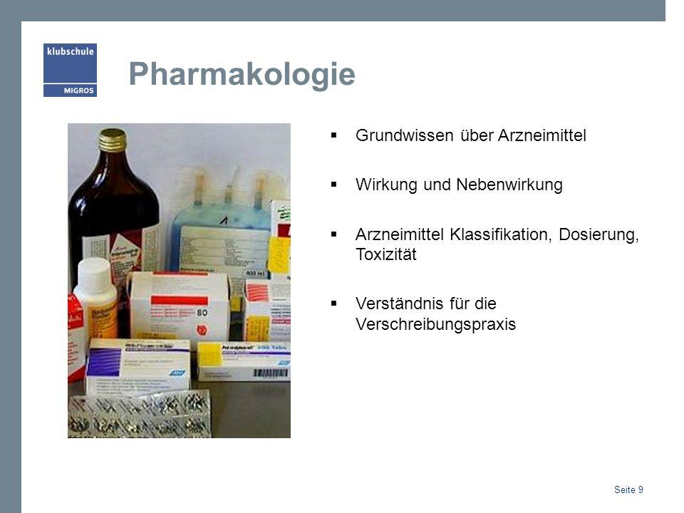 Pharmakologie Grundwissen über Arzneimittel Wirkung und Nebenwirkung