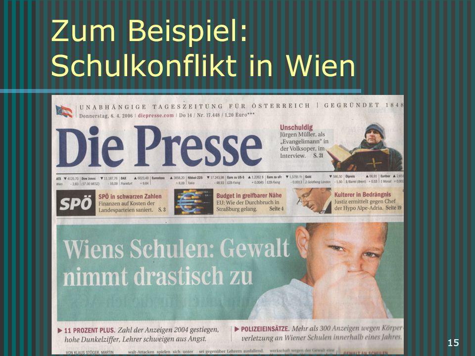 Zum Beispiel: Schulkonflikt in Wien
