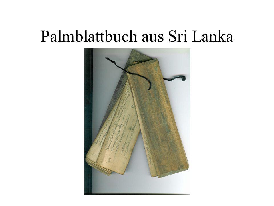 Palmblattbuch aus Sri Lanka