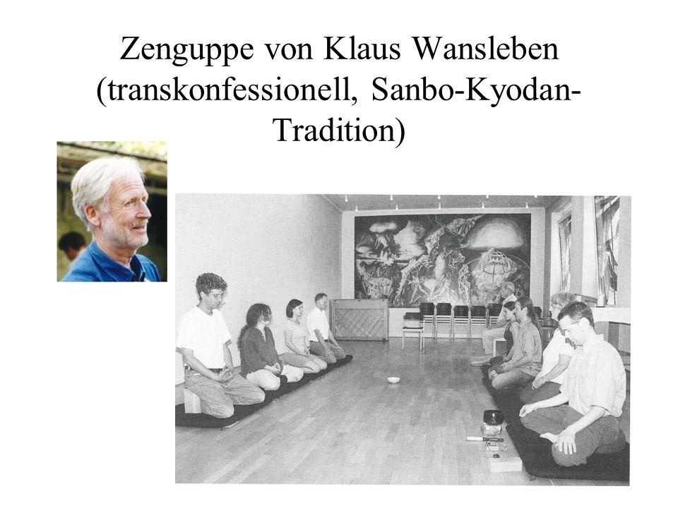 Zenguppe von Klaus Wansleben (transkonfessionell, Sanbo-Kyodan-Tradition)