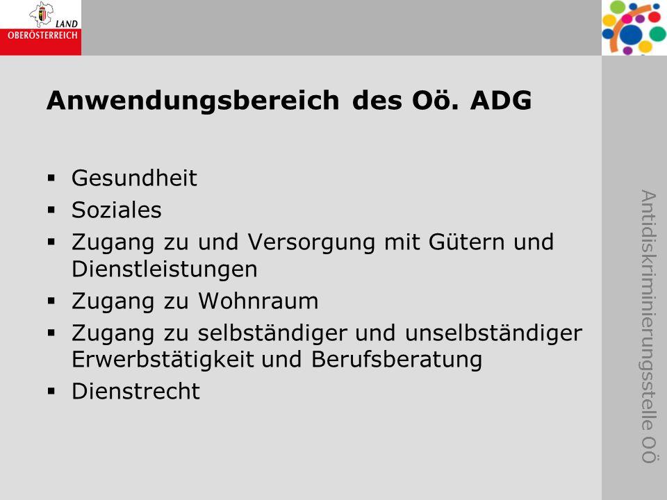 Anwendungsbereich des Oö. ADG