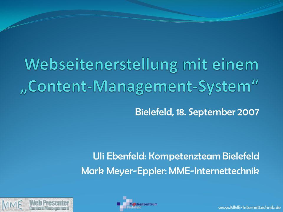 """Webseitenerstellung mit einem """"Content-Management-System"""