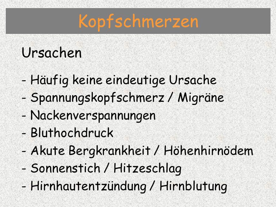 Kopfschmerzen Ursachen - Häufig keine eindeutige Ursache