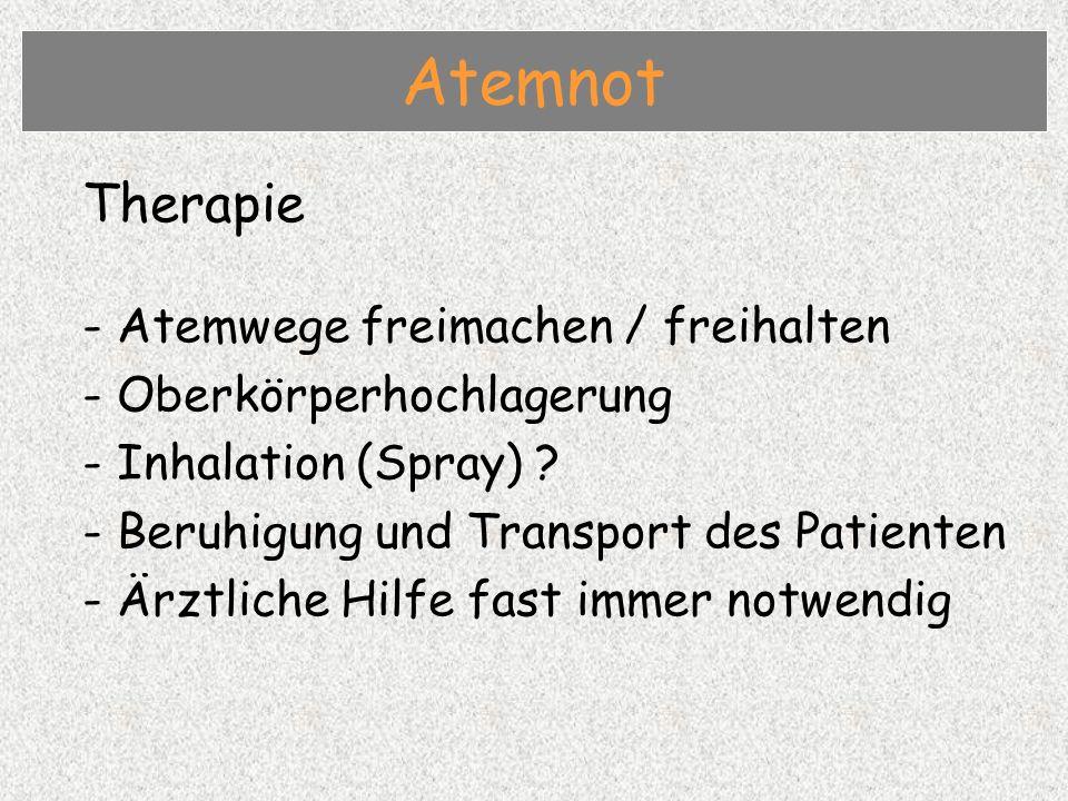 Atemnot Therapie - Atemwege freimachen / freihalten