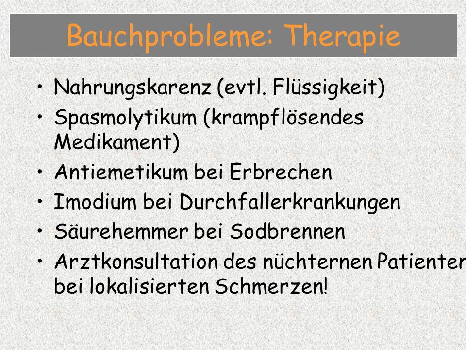 Bauchprobleme: Therapie