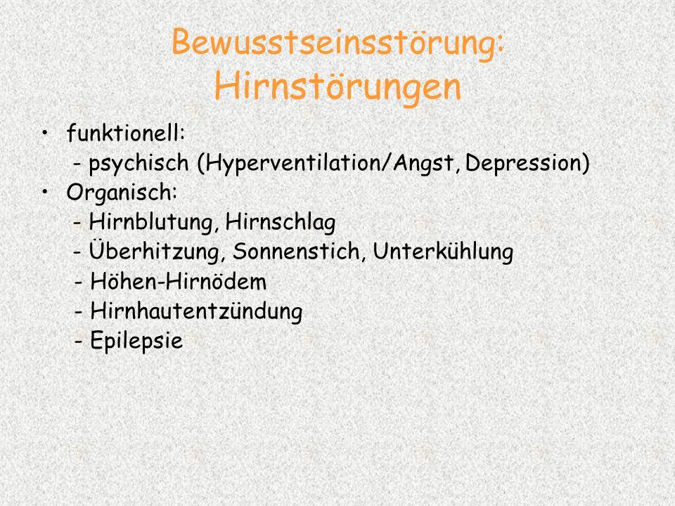 Bewusstseinsstörung: Hirnstörungen
