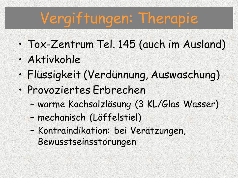 Vergiftungen: Therapie