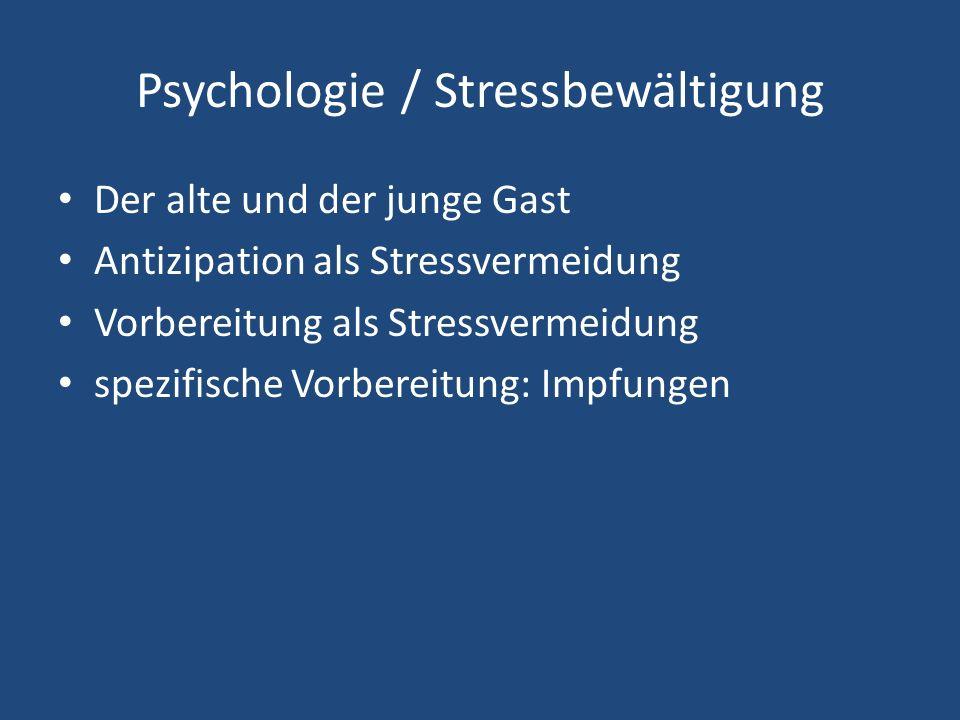 Psychologie / Stressbewältigung