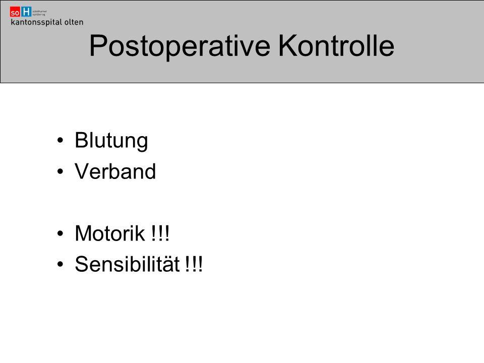 Postoperative Kontrolle