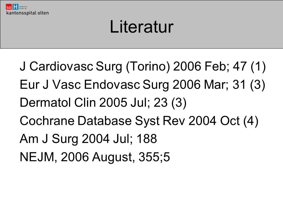 Literatur J Cardiovasc Surg (Torino) 2006 Feb; 47 (1)