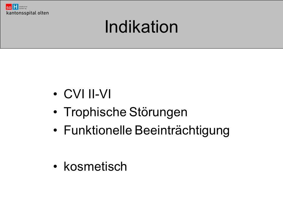 Indikation CVI II-VI Trophische Störungen