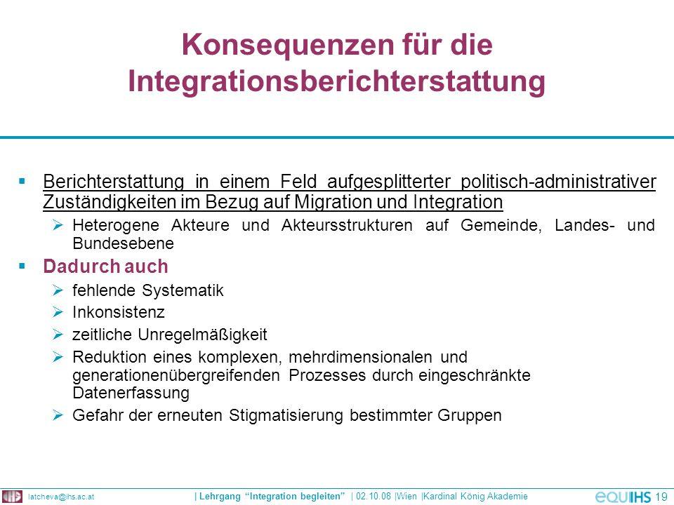 Konsequenzen für die Integrationsberichterstattung
