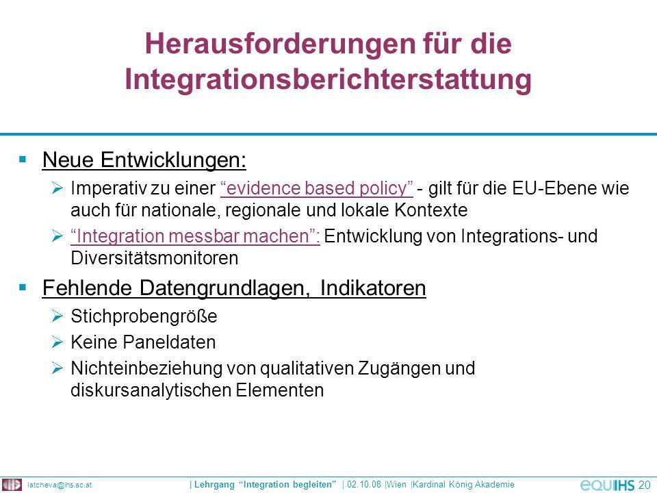 Herausforderungen für die Integrationsberichterstattung