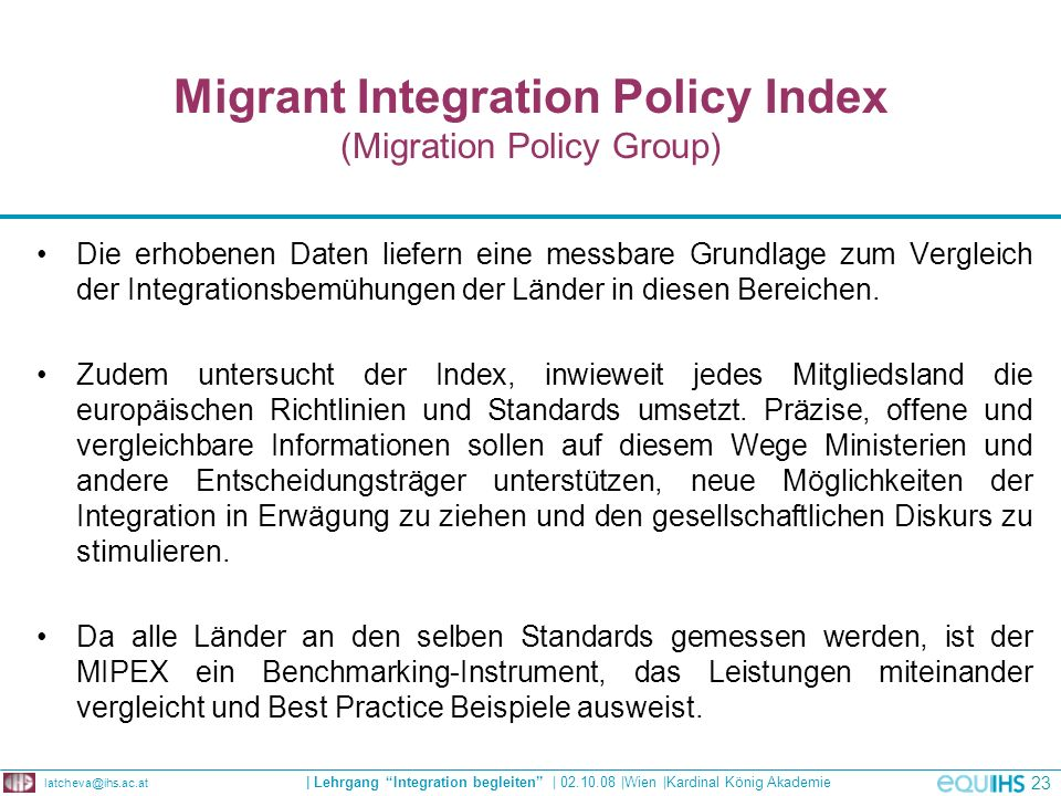 Migrant Integration Policy Index (Migration Policy Group)