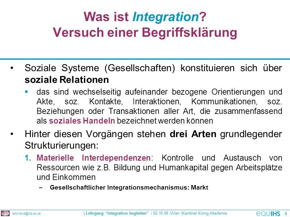 Was ist Integration Versuch einer Begriffsklärung