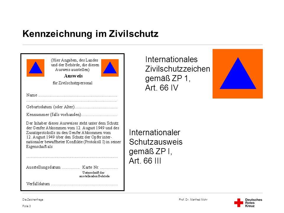 Kennzeichnung im Zivilschutz