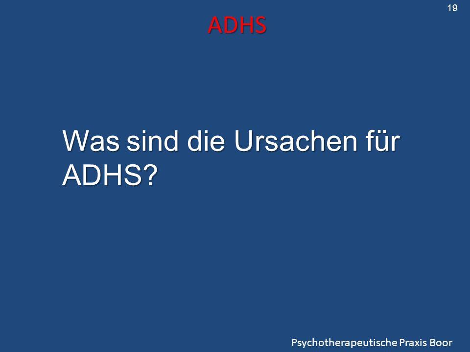 Was sind die Ursachen für ADHS